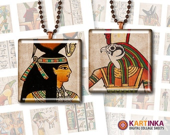 EGYPT EGYPTIANS - 1x1 inch & 1.5x1.5 inch tile Images Printable Digital Downloads for Jewelry Making Scrapbooking Crafts