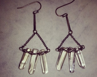 Crystal Shard Earrings