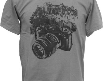 Graphic Design photography camera T-Shirt paparazzi funny tourist (S-XL) FREE SHIPPING
