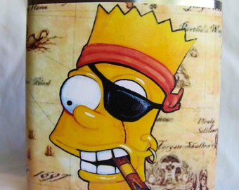 Simpsons Flask - Black Bart- FREE SHIPPING