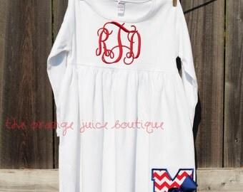 Monogrammed Ole Miss Rebels Football Dress