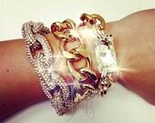 Sparkly Pavé Gold Curb Chain Bracelet