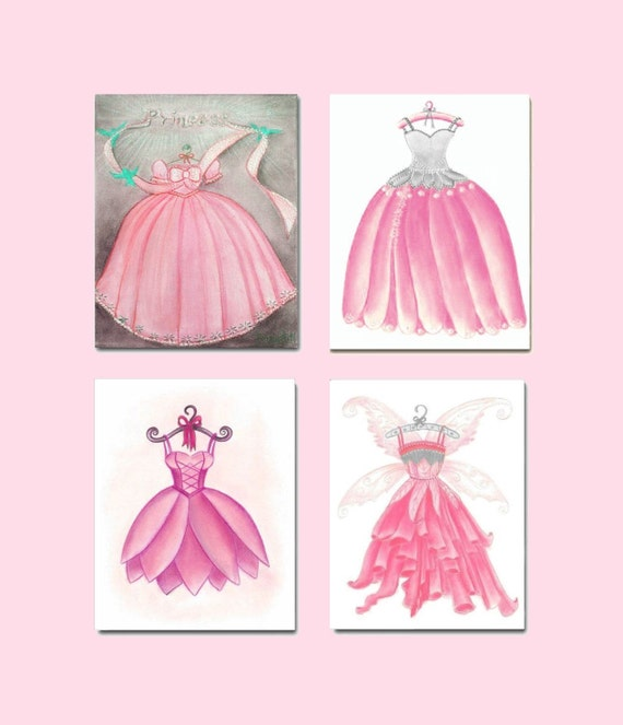 Girly Pink Nursery Decor: Baby Girl Nursery Kids Wall Art Pink Fairy Nursery By