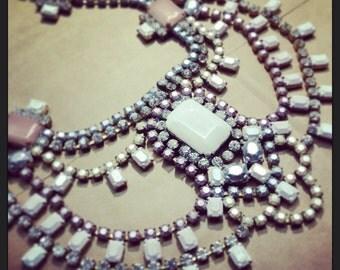 Custom Vintage Wedding Rhinestone Statement Necklace - JCrew