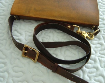 Shoulder Strap for Refillable Leather Sketchbooks- Must be ordered with a Large or Extra Large Sketchbook from the Zenfish Leather Shop