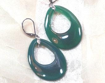Oval Aventurine Earrings Handmade Jewellery by NorthCoastCottage Jewelry Design