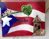 Custom Puerto Rican 11x14 Name Painting