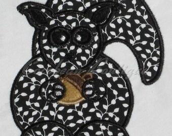 embroidery applique Squirrel