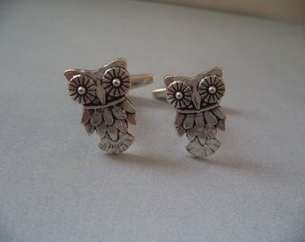 Harry Potter Antique Silver Whimsy Owl Cufflinks
