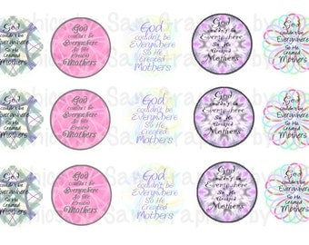 """1"""" DIGITAL Bottle Cap IMAGES - GOD made Mothers-For Use On Finished Products & For Precut sale"""