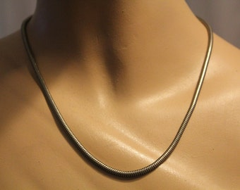 SALE! 1970s Silver Plated Snake Chain Vintage