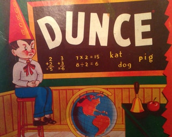 Vintage DUNCE Game From 1955 - Fun Graphics