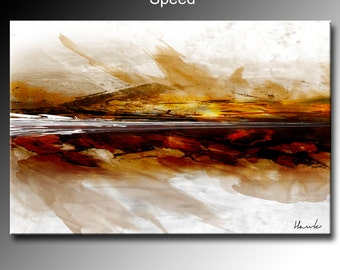 """48"""" x 32"""" Abstract canvas wall art giclee print fully stretched and ready to hang Modern Contemporary art"""