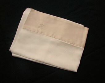 Monogrammed charmeuse mulberry silk pillowcase