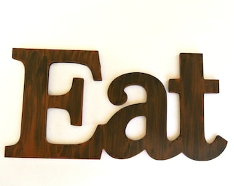 Shabby Chic Brown Eat sign for Kitchen Decor - Pick your color