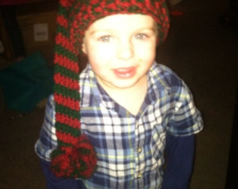 Red and Green Elf Hat (children's)