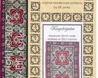Dollhouse Carpet Pattern - Kingsteignton Stair/Hall Runner by Minute Matters