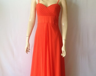 Red Prom Dress. Red Long Bridesmaid Dress