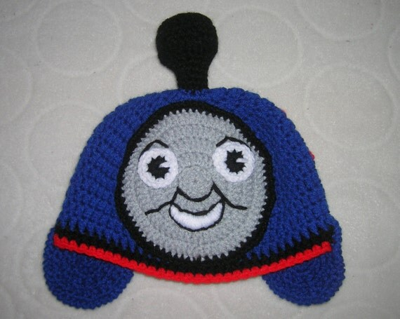 Free Crochet Hat Pattern For Thomas The Train : Items similar to Thomas The Train Crochet Hat Size 18-36 ...
