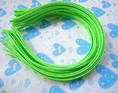 100pcs Plain apple green Satin Headband 5mm Wide