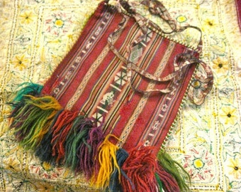 Colorful Vintage Peruvian Purse or Pouch
