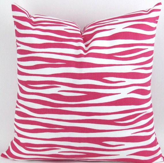 Animal Print Floor Pillows : Hot Pink Zebra Floor Pillow up to 28x28 inch by DeliciousPillows