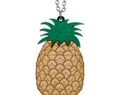 Pineapple necklace - laser cut acrylic - The Carmen Miranda Collection