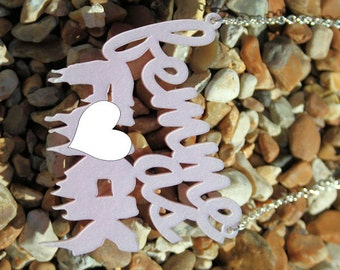 Femme As F--k necklace - laser cut acrylic