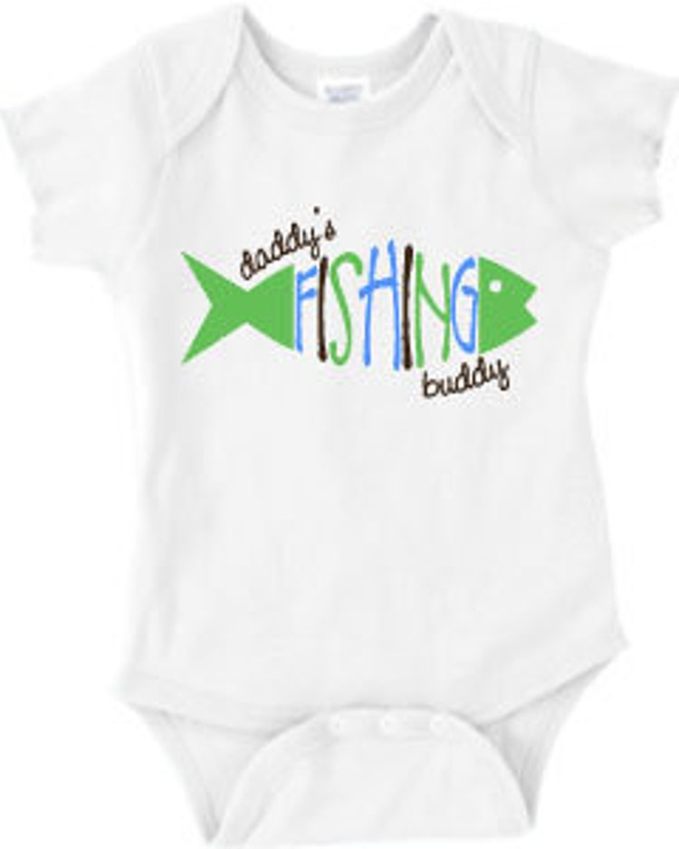 Daddy 39 s fishing buddy baby onesie or boy 39 s or by for Fishing shirt onesie
