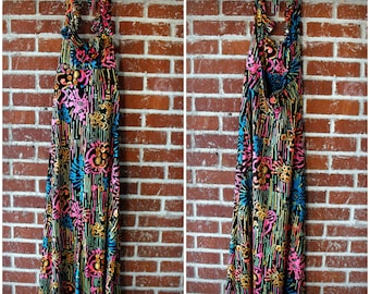 Vintage 1960's Young Innocent by Arpeja Neon Halter Maxi Dress Xsmall/Small