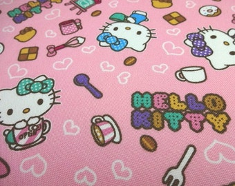 Japanese Fabric Sanrio Hello Kitty Coffe Shop Pink Fat Quarter