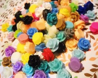 Flower Cabochons Resin Flowers Flower For Earrings 10mm Bulk Cabochons Wholesale Cabochons 100pcs