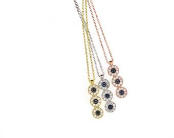 SALE--Triple Evil Eye Necklace