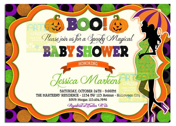 Items Similar To Halloween Baby Shower Invitation Baby Shower - Halloween baby shower invitations
