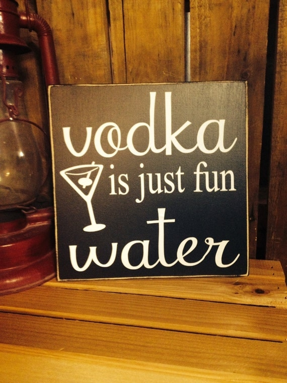 Wall Art Quotes For Pubs : Drinking sayings vodka bar sign is just fun