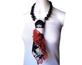 ANDALUZIA Spanish Flamenco ruffle lace feminine women's necktie