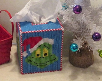 Grinch Tissue Box Cover, Grinch Christmas Decoration, Dr. Seuss Christmas, Grinch Home Decor, Merry Grinchmas