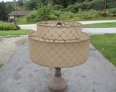 Vintage Midcentury fiberglass lamp shade