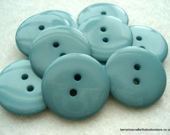 23mm Cyan Resin Button Pack of 12 Turquoise Resin Buttons A127