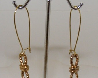 Gold Modern Rope Earrings
