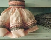 Reserved for KIM  Only  //  Vintage Peachy Pink Shabby Chic Lamp Shade / Cottage Decor