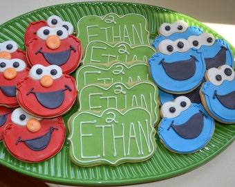 Sesame Street Cookies, Elmo Cookie Monster- 1 Dozen