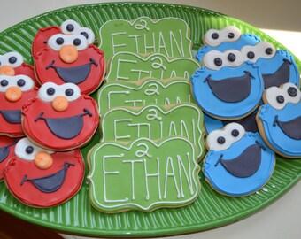 Sesame Street Decorated Sugar Cookies-1 dozen