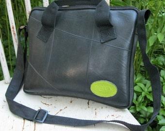 Reclaimed Inner-tubes Handbag: Revved Up Tire Messenger Pouch, For iPads, Nook, Kindle