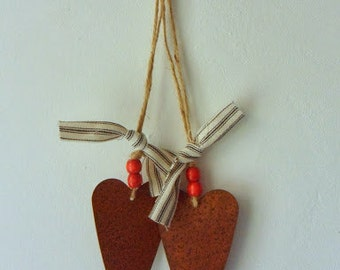 Rusty Tin Heart Hanger