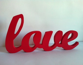 Wooden letters personalized love 1.5