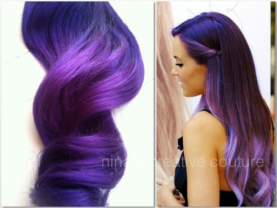Brown Purple Ombre Hair Extensions 41