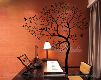 Wall Decals wall sticker kids wall decal nursery wall decals Master bedroom decoration-Tree with birds sticker