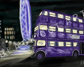 Knight Bus: Art Print (5x7 or 8x10)