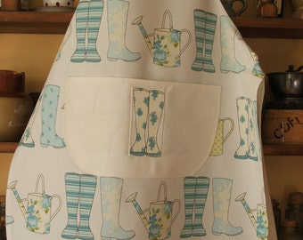 Wellies and Watering Can Apron